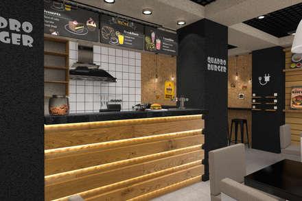 Бургерная: Столовые комнаты в . Автор – Студия архитектуры и дизайна Вояджи Дарьи