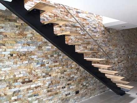 Reforma de apartamento en el Barrio Estadio: Pasillos y vestíbulos de estilo  por ALSE Taller de Arquitectura y Diseño