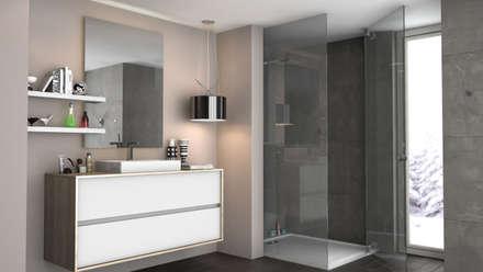 Amboage: Baños de estilo moderno de Rochene Floors