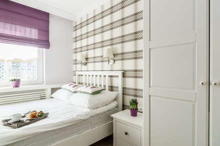Apartament prowansalski – Aviator – Gdańsk : styl , w kategorii Sypialnia zaprojektowany przez Anna Serafin Architektura Wnętrz