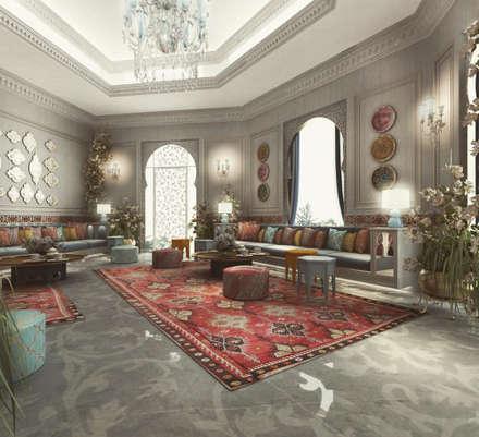 Interior Design & Architecture  by IONS DESIGN Dubai,UAE: mediterranean Living room by IONS DESIGN