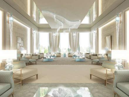 Interior Design & Architecture  by IONS DESIGN Dubai,UAE: classic Living room by IONS DESIGN