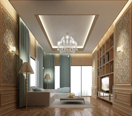 Interior Design & Architecture  by IONS DESIGN Dubai,UAE: classic Living room by IONS DESIGN