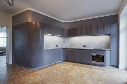 beton cire Küche: moderne Küche von PA Tischlerei GbR