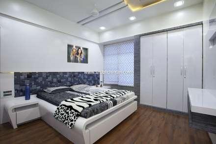 Bed room : modern Bedroom by shubhchintan