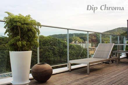 광주 복층 빌라: dip chroma의  발코니, 베란다 & 테라스
