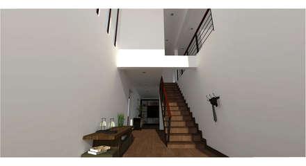 : Pasillos, hall y escaleras de estilo  por Vibra Arquitectura