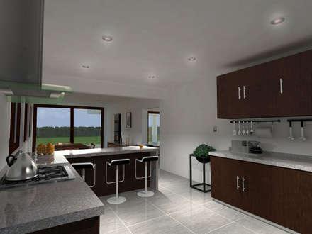 : Cocinas de estilo moderno por Vibra Arquitectura
