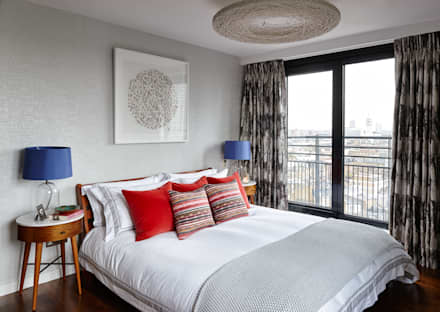 Gloucester Road Penthouse: modern Bedroom by Bhavin Taylor Design