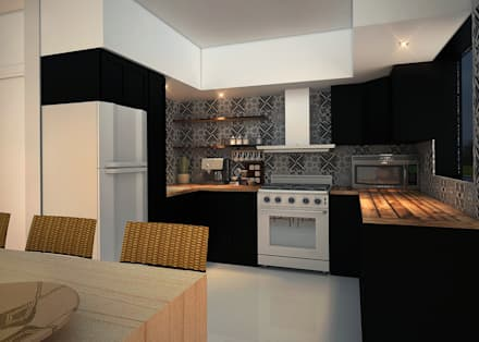 Built-in kitchens by Rotoarquitectura