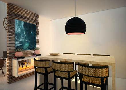 scandinavian Dining room by Rotoarquitectura