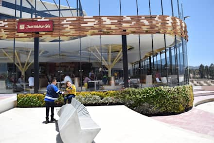 Jardín vertical Exterior: Jardines de invierno de estilo tropical por Verde & Verde Ingenieros & Arquitectos SAS
