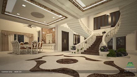 Arabian Style in Interiors: asian Living room by Monnaie Architects & Interiors