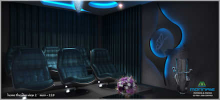 Contemporary Interior Design: classic Media room by Monnaie Architects & Interiors