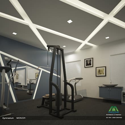 modern Gym by Monnaie Architects & Interiors