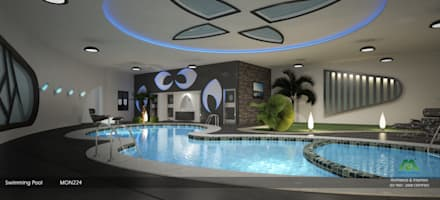 Modern Interior Design with Fabulous Features: modern Pool by Monnaie Architects & Interiors