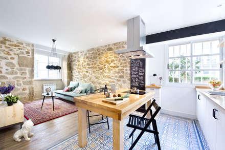 A Coruña for rent!: Comedores de estilo moderno de Egue y Seta