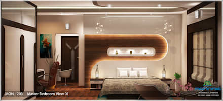 Indian Contemporary Design: modern Bedroom by Monnaie Architects & Interiors