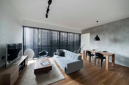 FORESQUE RESIDENCES: scandinavian Living room by Eightytwo Pte Ltd