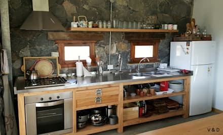Cocinas de estilo escandinavo por VETA & DISEÑO