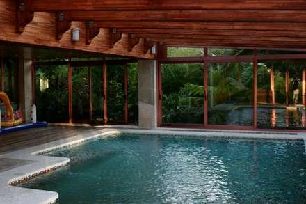 JARDIN DOMESTICO EN CANIDO 2006: Jardines de estilo tropical de RUTH GUNDÍN VILLAR