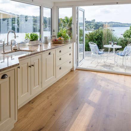 Bespoke Kitchen - sea to earth approach: mediterranean Kitchen by Winfreys of Helston