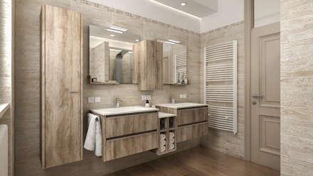 progetti di ristrutturazione di bagni privati bagno in stile in stile moderno di studiosagitair
