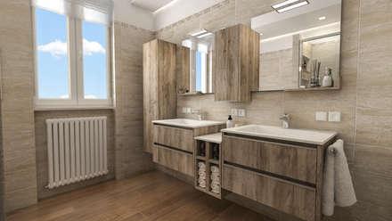 Progetti di Ristrutturazione di Bagni Privati: Bagno in stile in stile Moderno di studiosagitair