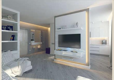 Квартира стилиста.: Гостиная в . Автор – Tutto design