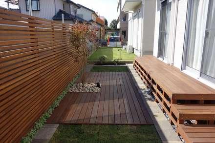 ガーデン「ウッド+芝庭」 埼玉県さいたま市: NOD GARDENが手掛けた庭です。
