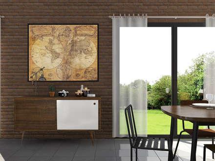 """Esprit atelier """"Loft industriel & vintage"""": Salon de style de style Industriel par Sandia Design"""