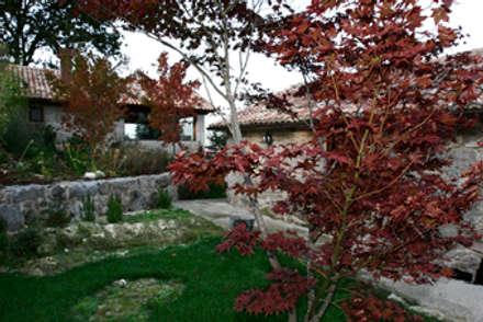 JARDIN DOMESTICO EN MAÑUFE.GONDOMAR: Jardines de estilo rural de RUTH GUNDÍN VILLAR