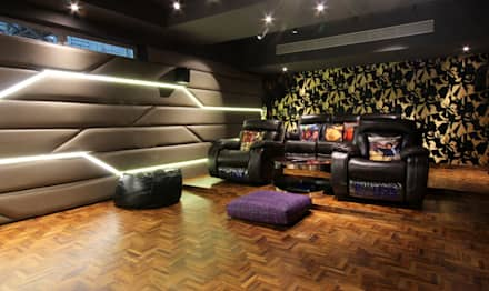 modern Media room by Mind Studio