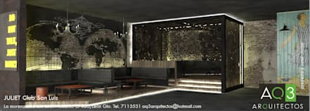 Bars & clubs by AQ3 Arquitectos