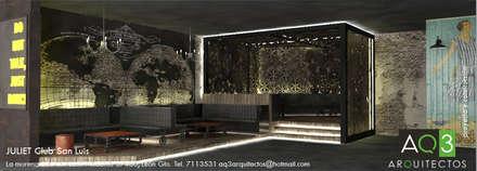 Bares y Clubs de estilo  por AQ3 Arquitectos