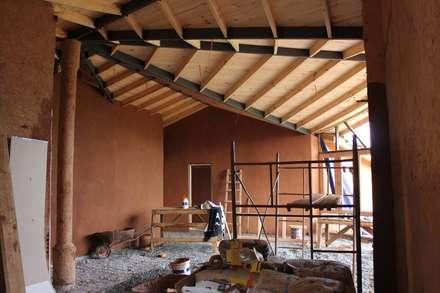 CASA CASTILO HEPP: Livings de estilo rural por ALIWEN arquitectura & construcción sustentable
