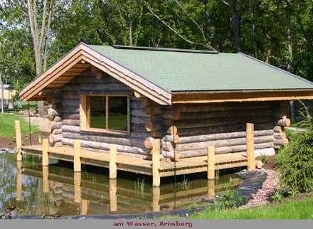 Außensauna Blockhaus : skandinavisches Spa von corso sauna manufaktur gmbh