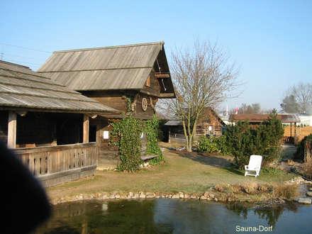 Außensauna Blockhaus: skandinavisches Spa von corso sauna manufaktur gmbh