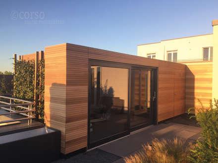 Außensauna Dachterasse: skandinavisches Spa von corso sauna manufaktur gmbh