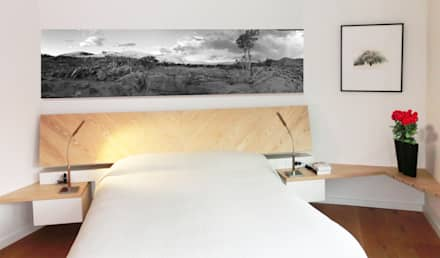 Dormitorio Principal: Dormitorios de estilo minimalista de Daifuku Designs