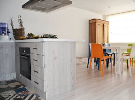 APARTAMENTO 64: Cocinas de estilo ecléctico por santiago dussan architecture & Interior design