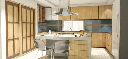Cocina: Cocinas de estilo moderno por FyA Arquitectos
