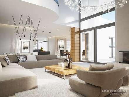 ideen & inspiration für moderne wohnzimmer | homify, Wohnzimmer dekoo
