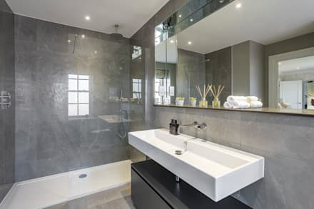 Master Ensuite: modern Bathroom by Emma Hooton Ltd