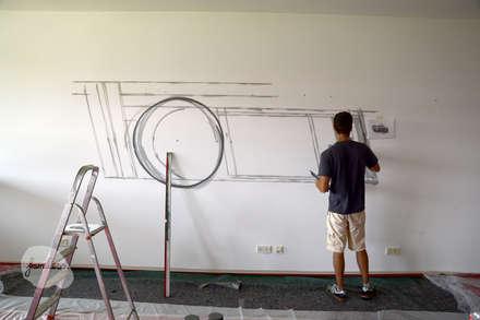 Estadios de estilo  por Graffiti und Wandmalerei | Frameless-studio UG