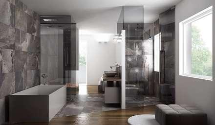 Attico : Bagno in stile in stile Minimalista di Dario Cipelletti Architect