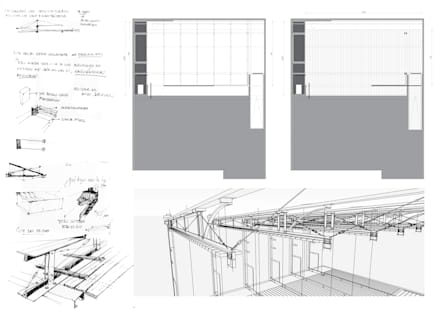 ESPACIO DE REUNIÓN DE AMIGOS: Comedores de estilo rústico por juan olea arquitecto