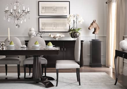 SS16 Style Guide - Coastal Elegance - Dining Room: country Dining room by LuxDeco