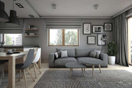 Mieszkanie 92m2: styl , w kategorii Salon zaprojektowany przez MGN Pracownia Architektoniczna