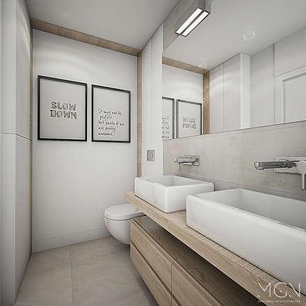 Mieszkanie 92m2: styl , w kategorii Łazienka zaprojektowany przez MGN Pracownia Architektoniczna